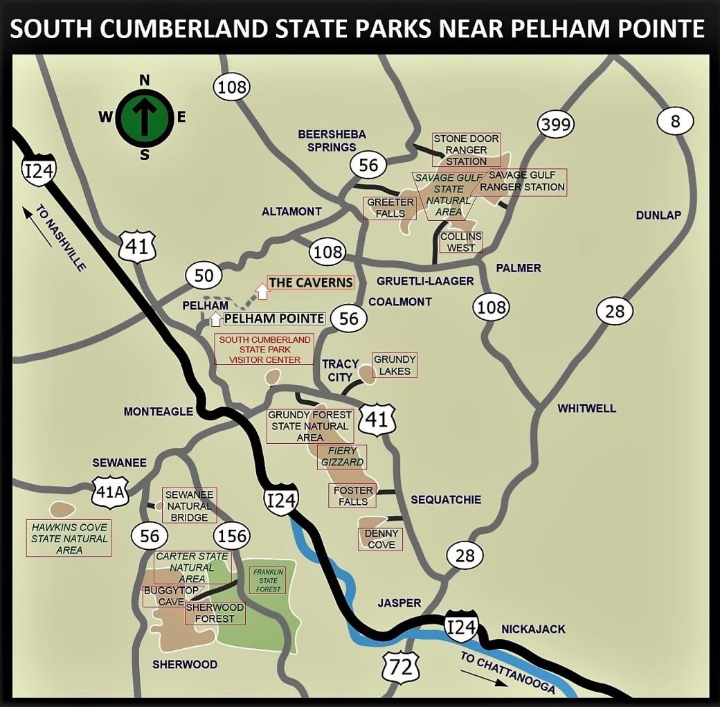 Pelham Pointe Mountaintop Rental Cabin The Caverns Sewanee Bonnaroo