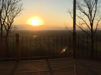 Pelham Pointe Mountaintop Cabin Rental - Sunset Hike